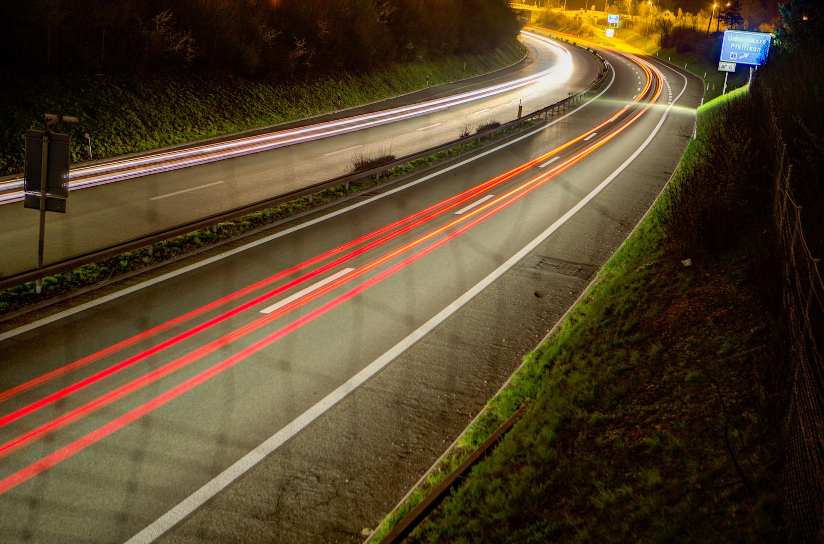 Autobahn Ausfahrt Uster Nord