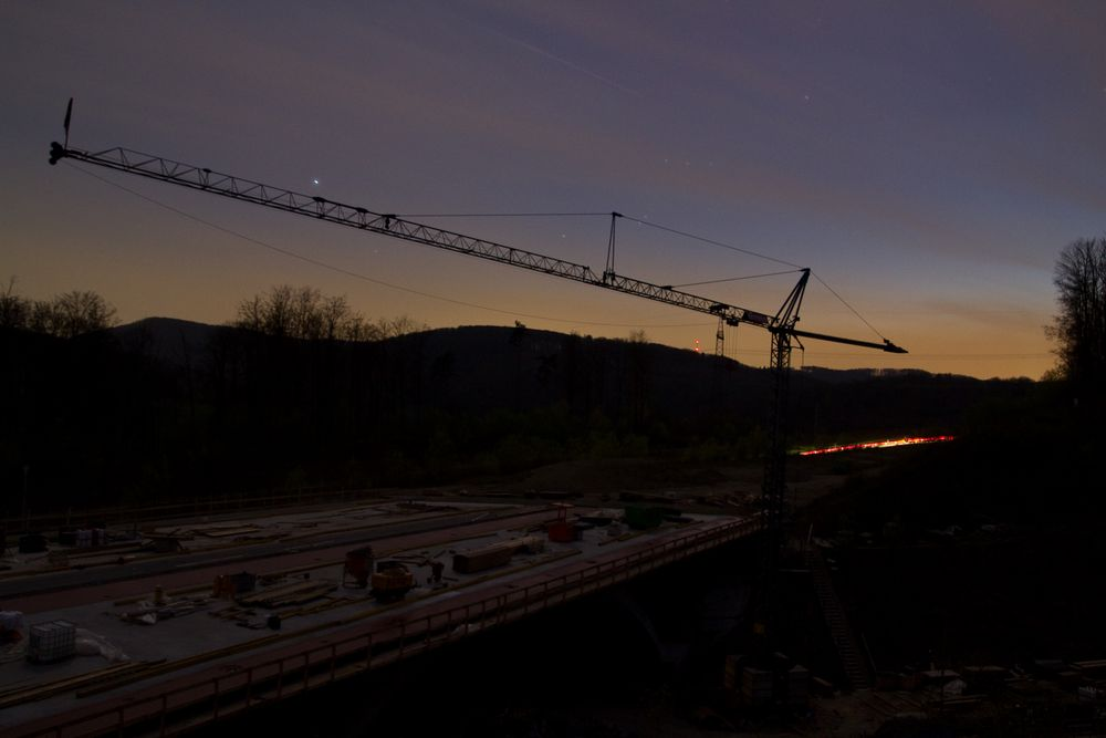 Autobahn-Baustelle Rheinfelden