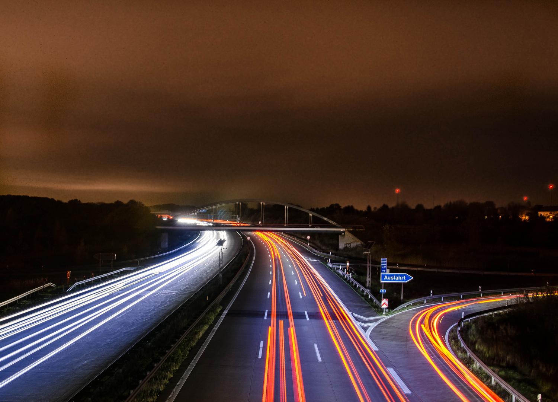 Autobahn bei Blumberg