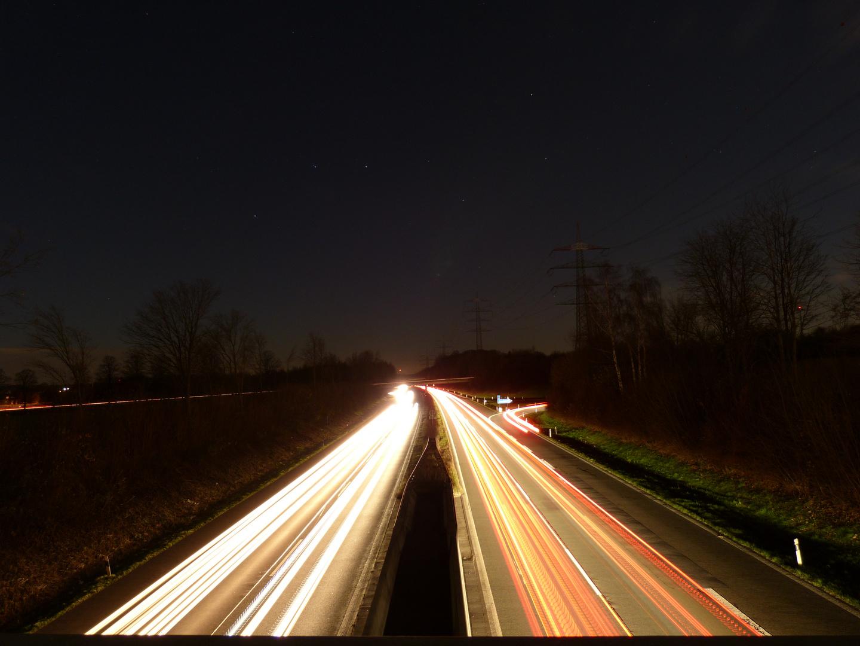 Autobahn bei Nacht 2