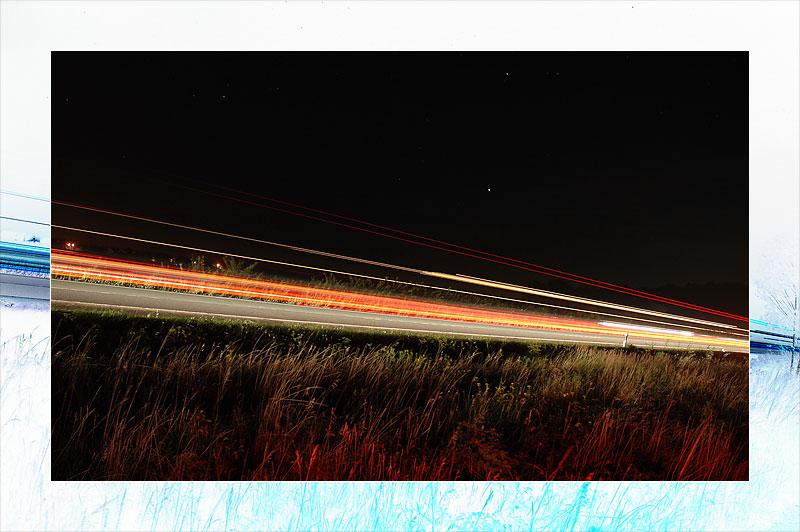 Autobahn bei nacht.. mal anders..