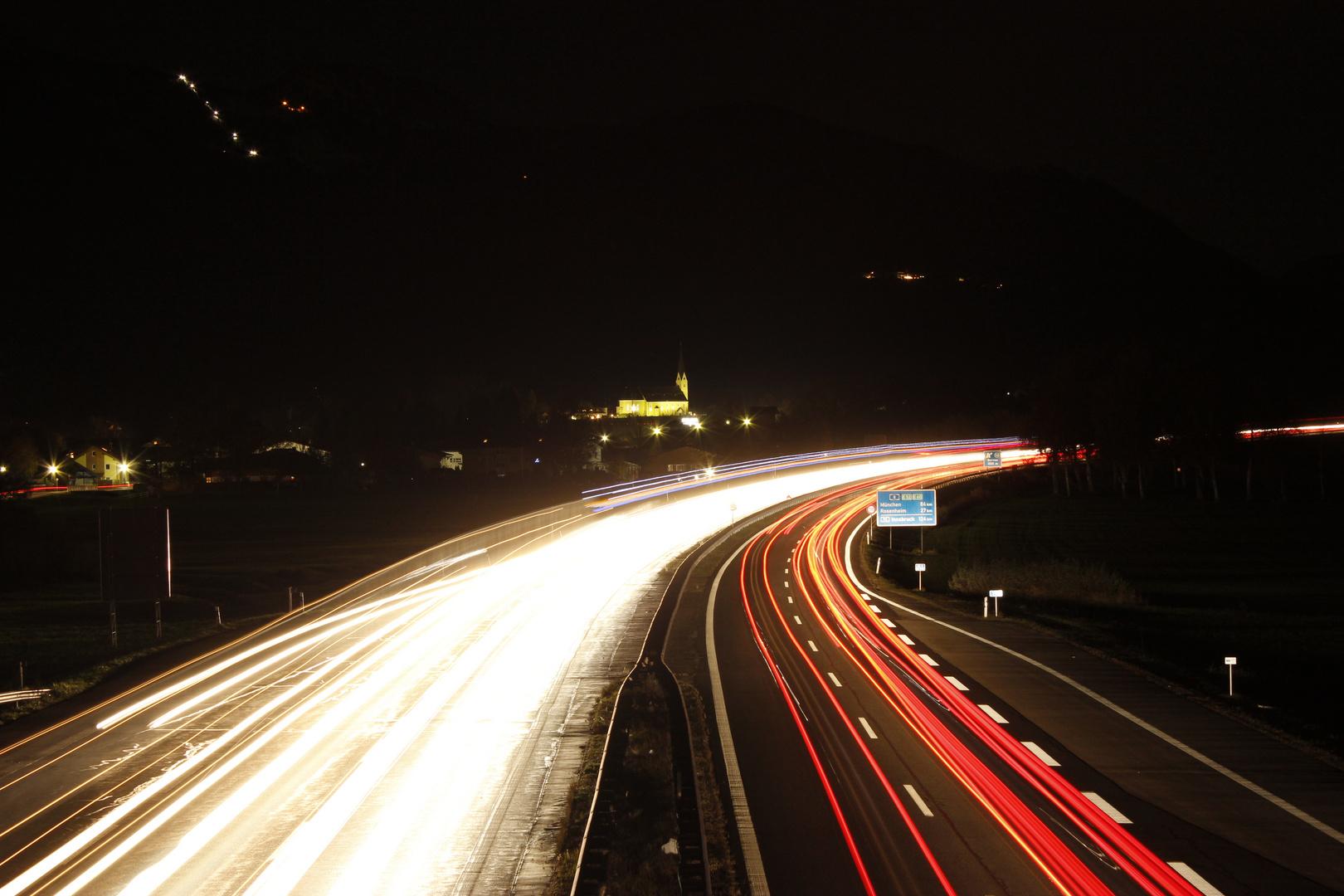 Autobahn Bernau am Chiemsee