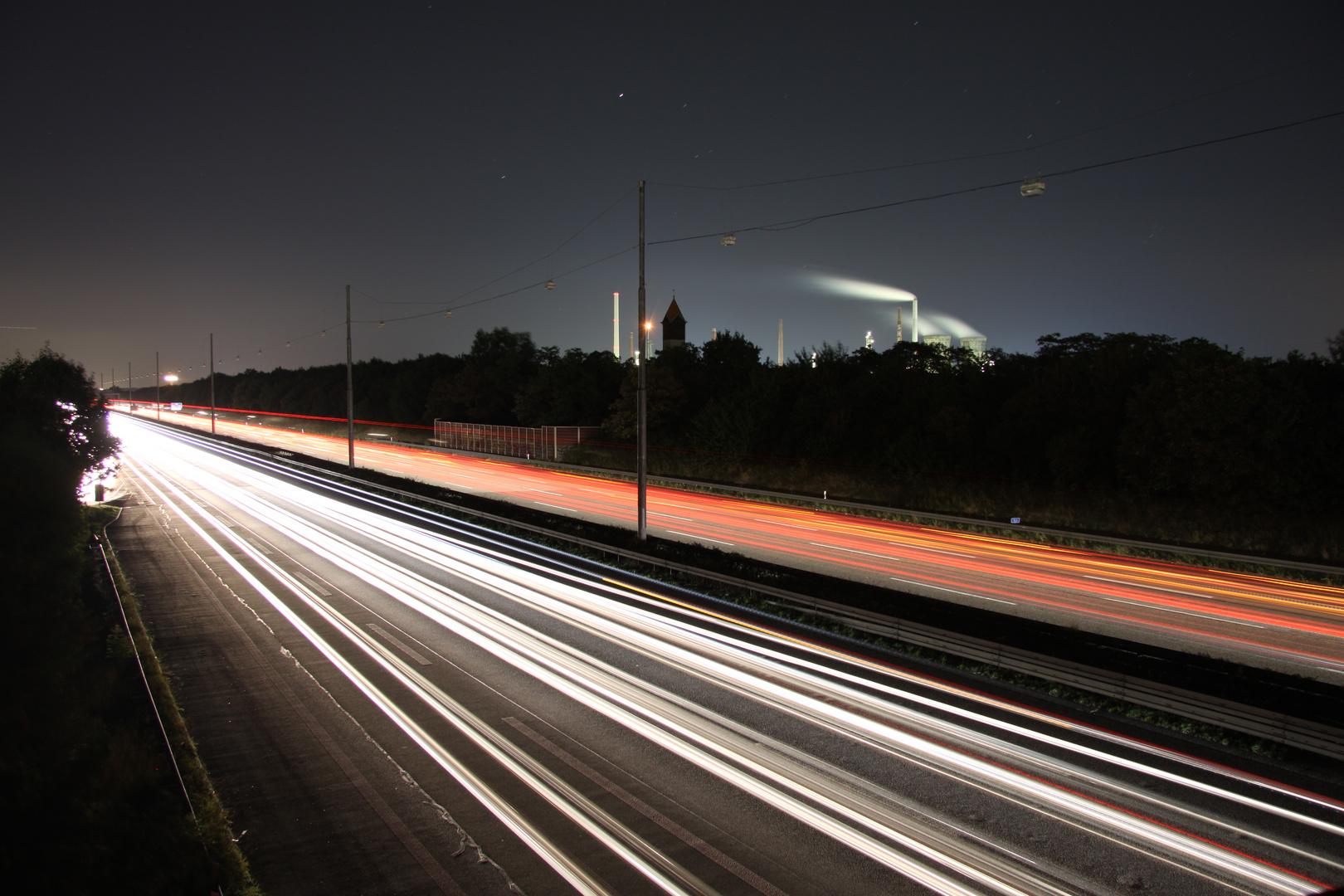 Autobahn-Langzeitbelichtung