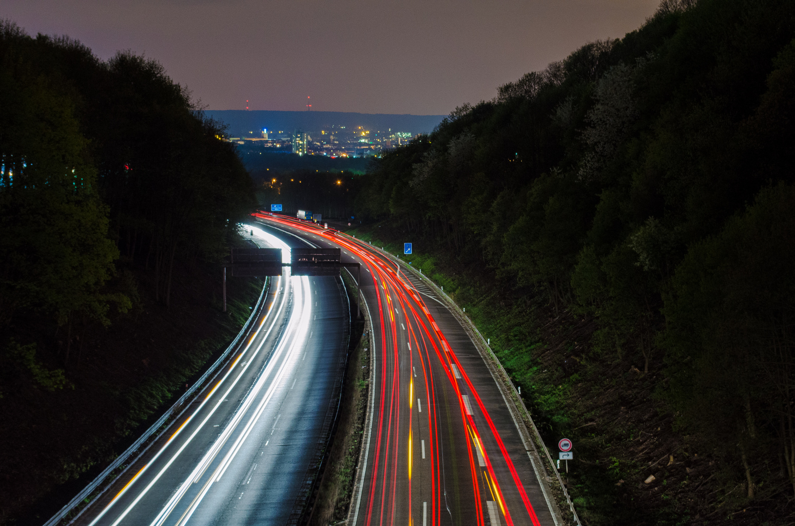Autobahn nach Aachen