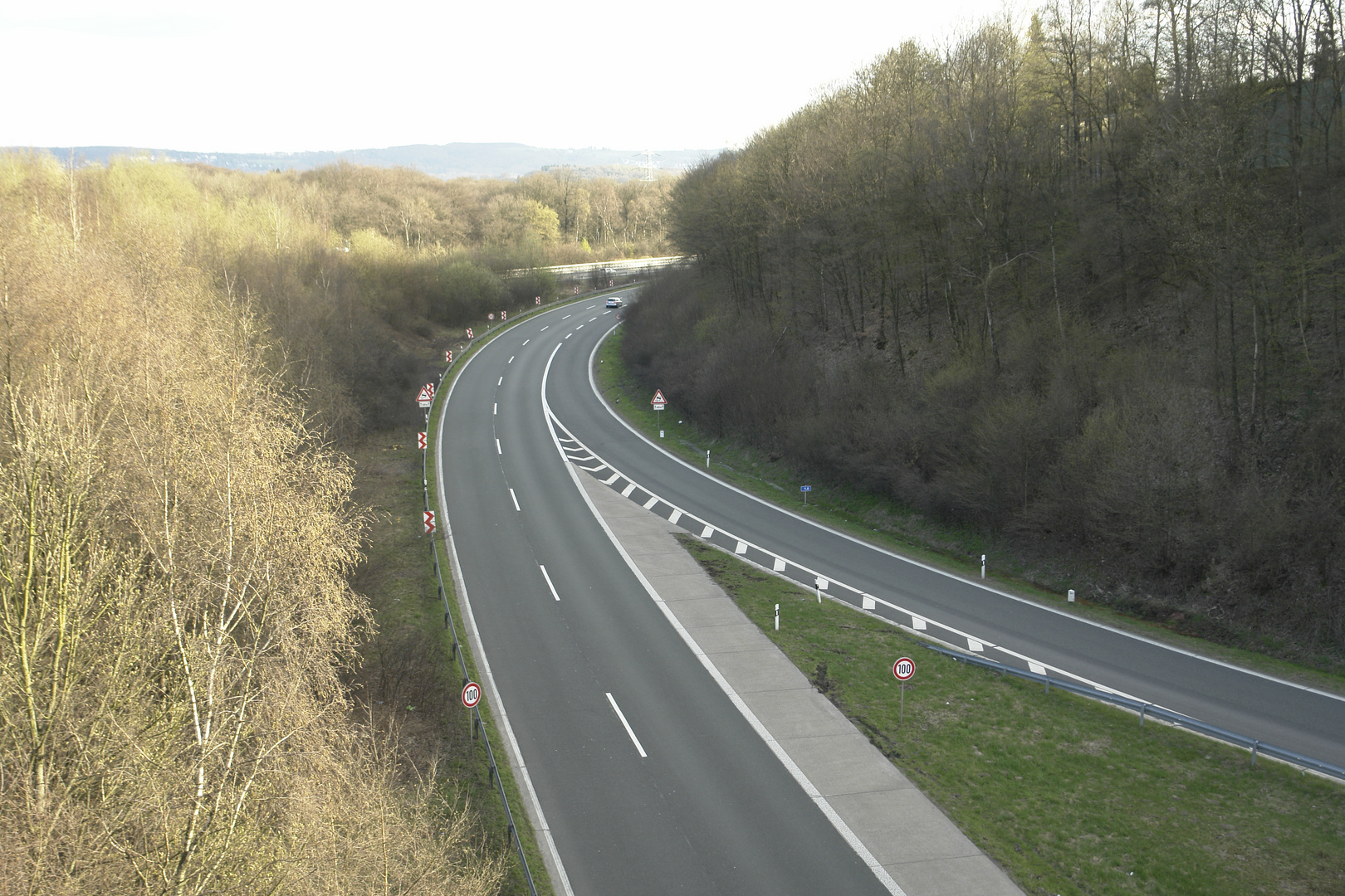 Autobahn Richtung Wuppertal nord