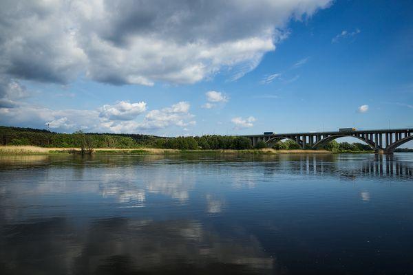 Autobahnbrücke A12 nach Polen bei Frankfurt (Oder)