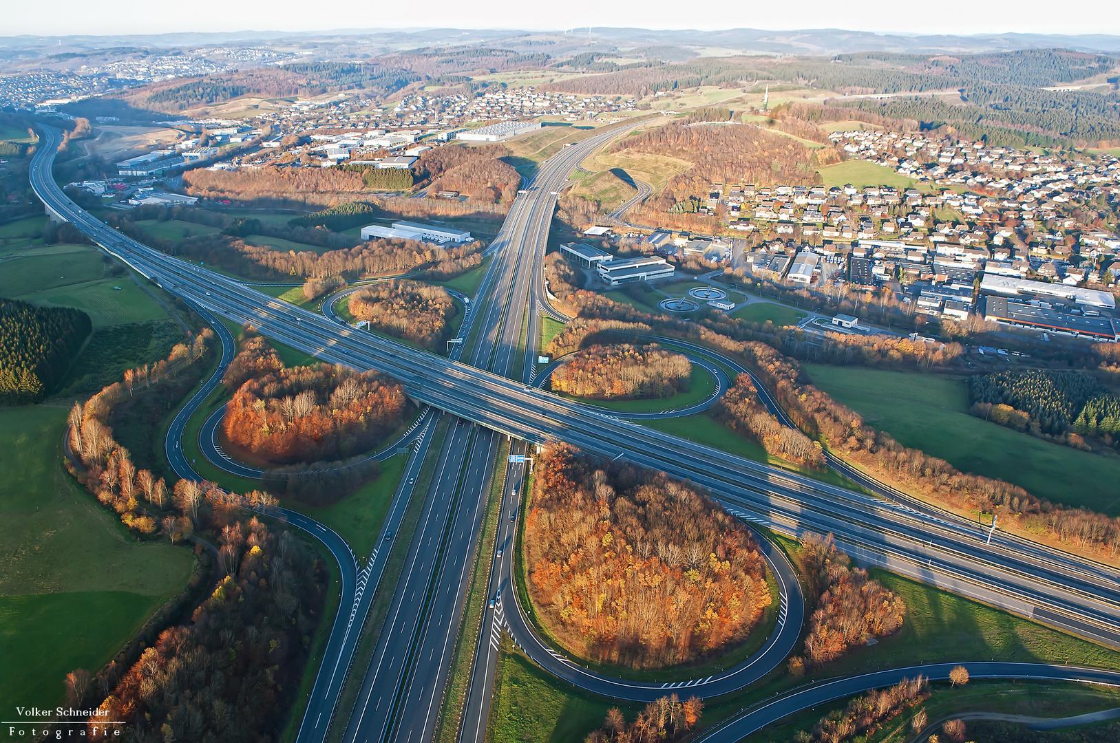 Autobahnkreuz Olpe/Süd