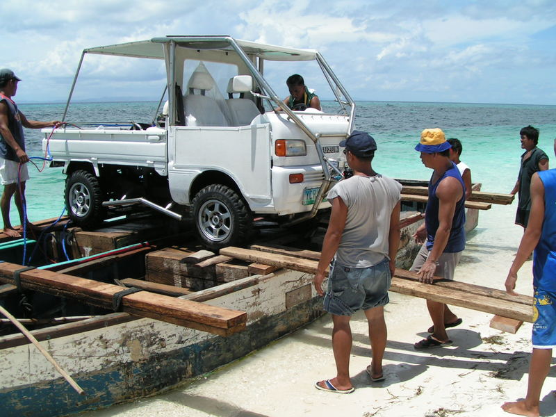 Autofähre, Car Ferry Malapascua/Philippines
