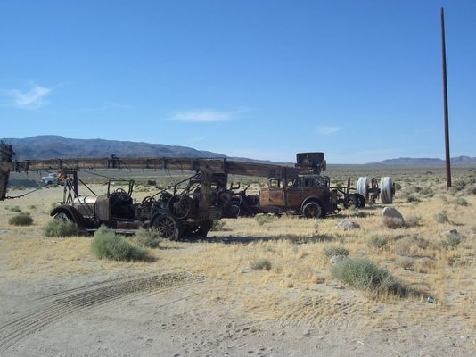 Autofriedhof in der Wüste
