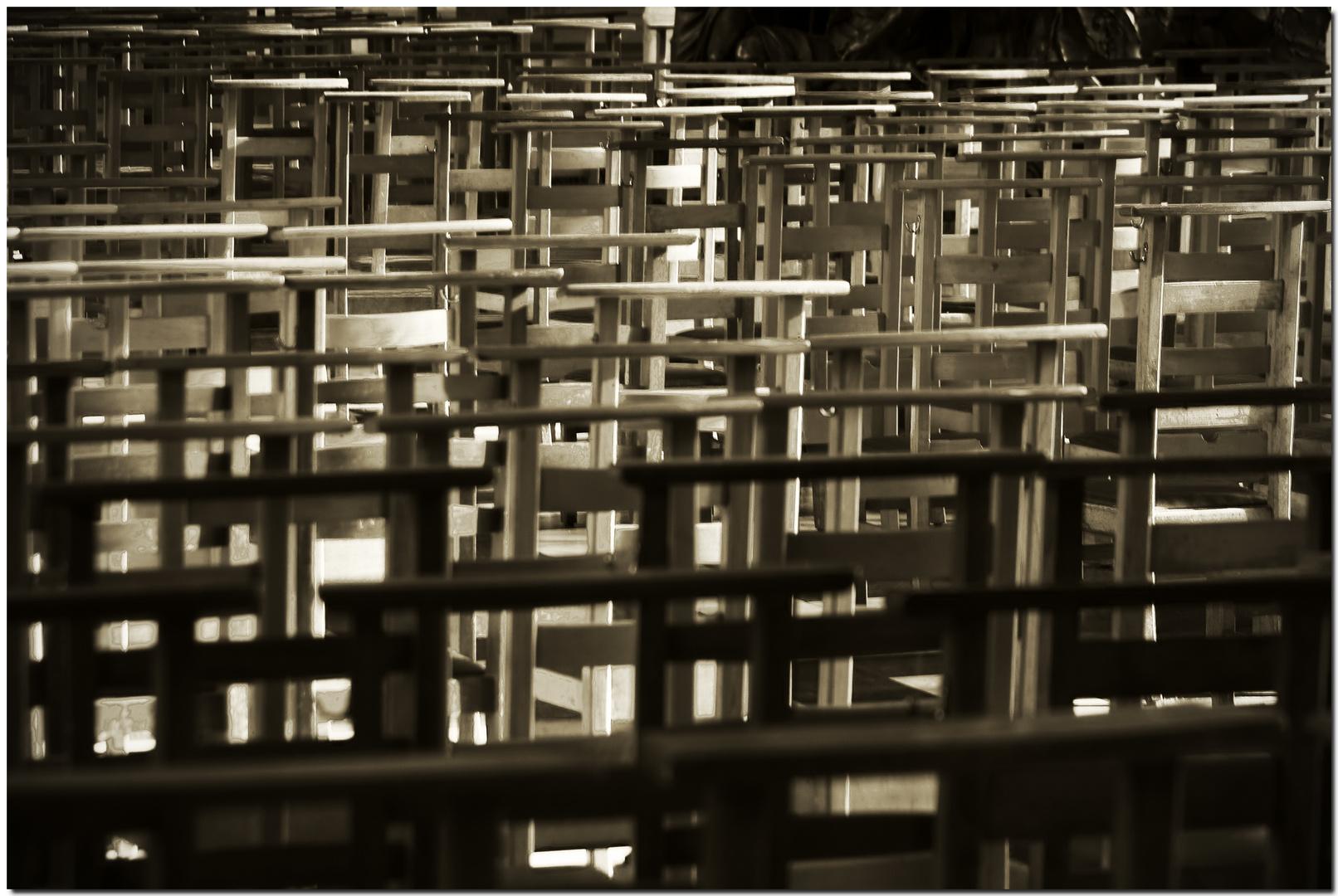 Automne à Bruxelles XXIII Espace de prière, filtre de lumière