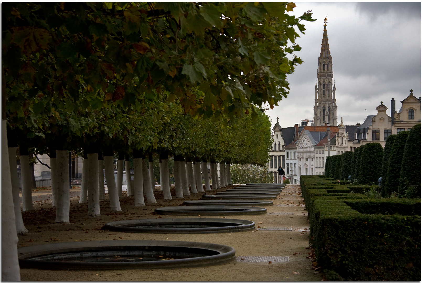 Automne à Bruxelles XXVIII Perspective en vert