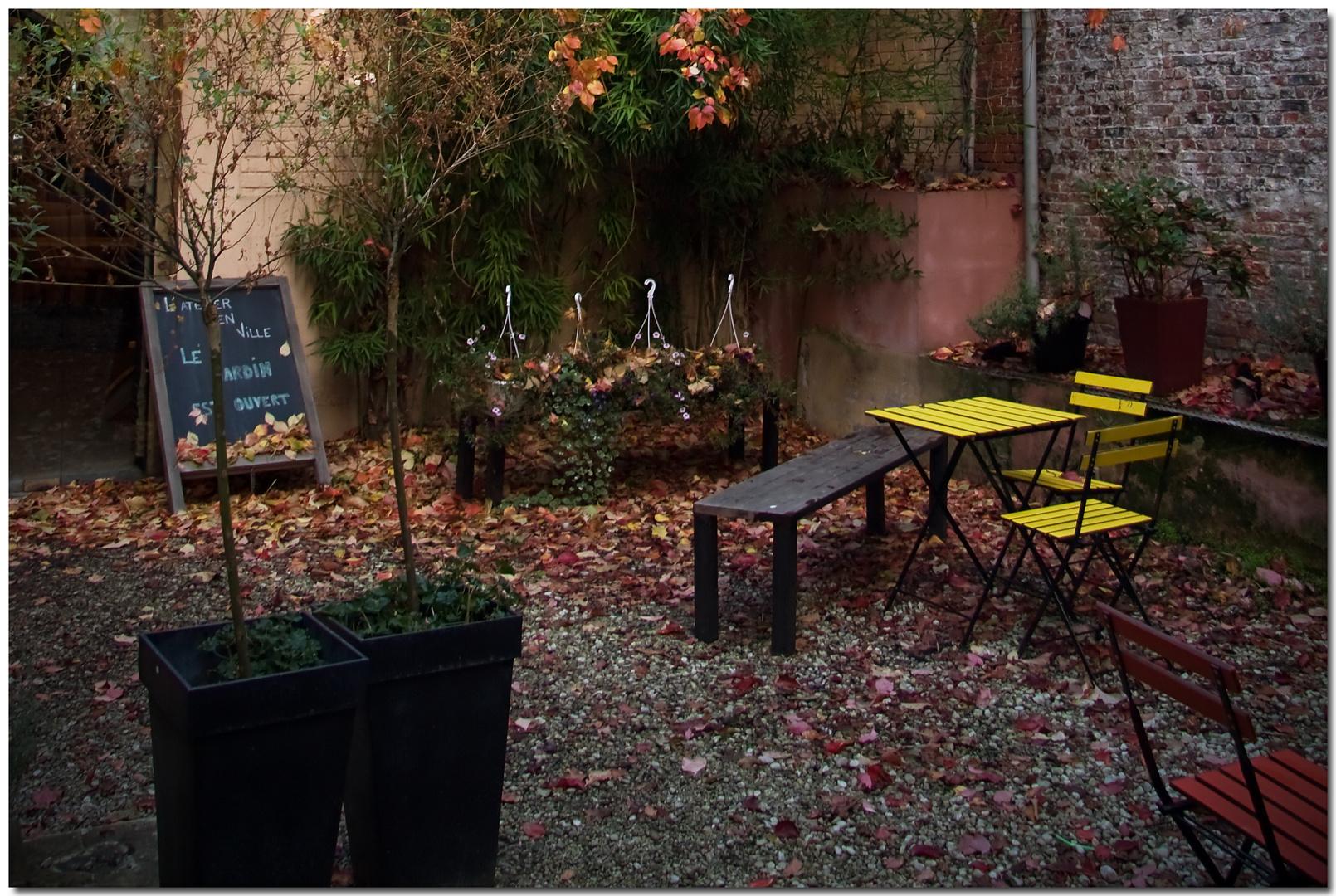Automne à Bruxelles XXXI Le jardin est ouvert