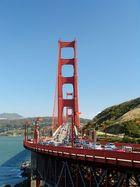 Autos auf der Golden Gate Bridge