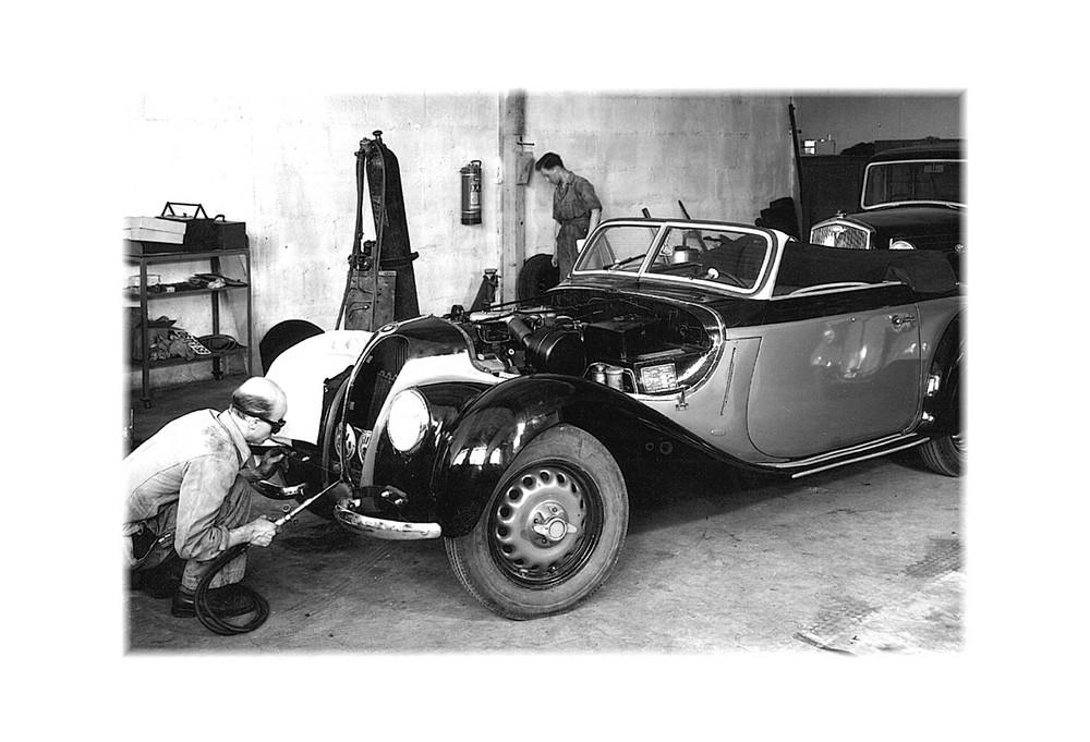 Autowerkstatt ca. 1950