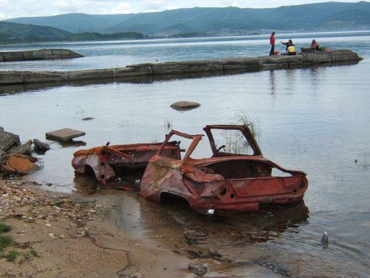 Autowrack in Sibirien