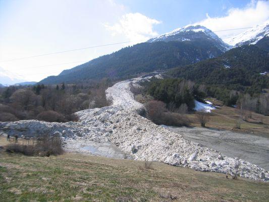 Avalanche à Solière-sardière (Mars 2007)