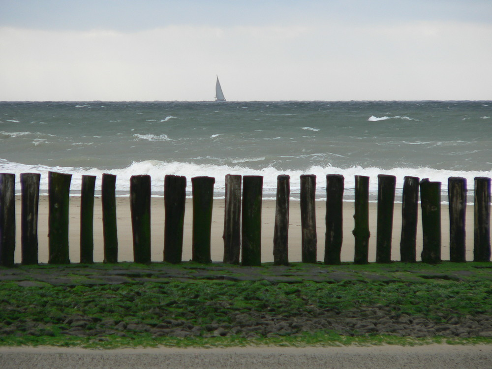 Avec la mer du Nord...