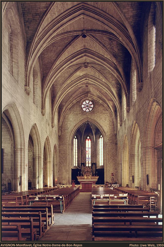 AVIGNON-Montfavet (84 Vaucluse), Église Notre-Dame-de-Bon-Repos