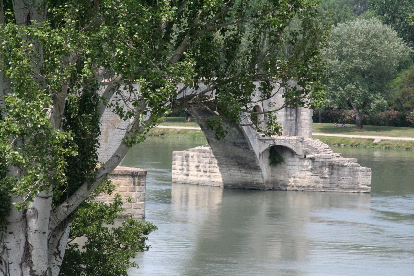 Avignon -Sur le pont d'Avignon in Südfrankreich-
