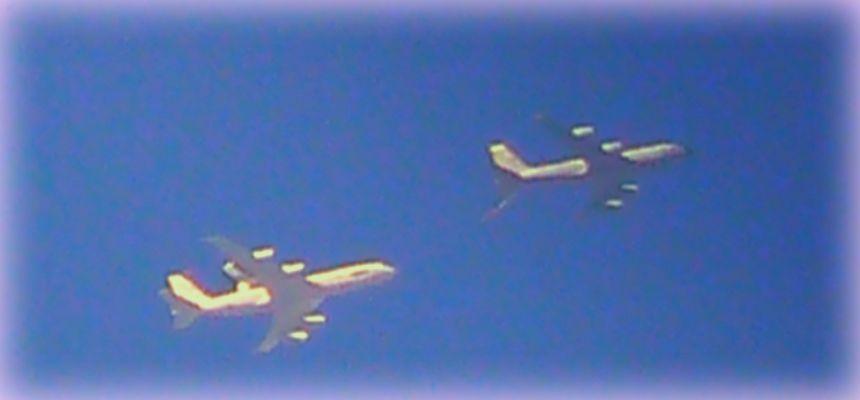 AWACS Luftbetankung über Schleswig-Holstein