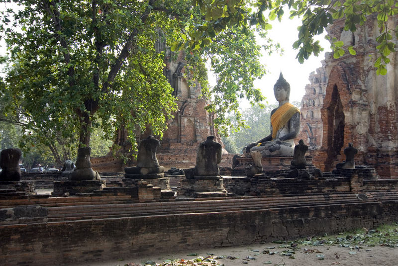 Ayhutthaya Wat Mahathat Tempelanlage