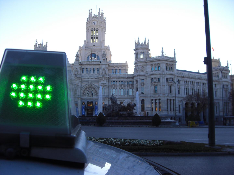 Ayuntamiento y Cibeles,en Madrid.