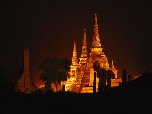 Ayutthaya at night