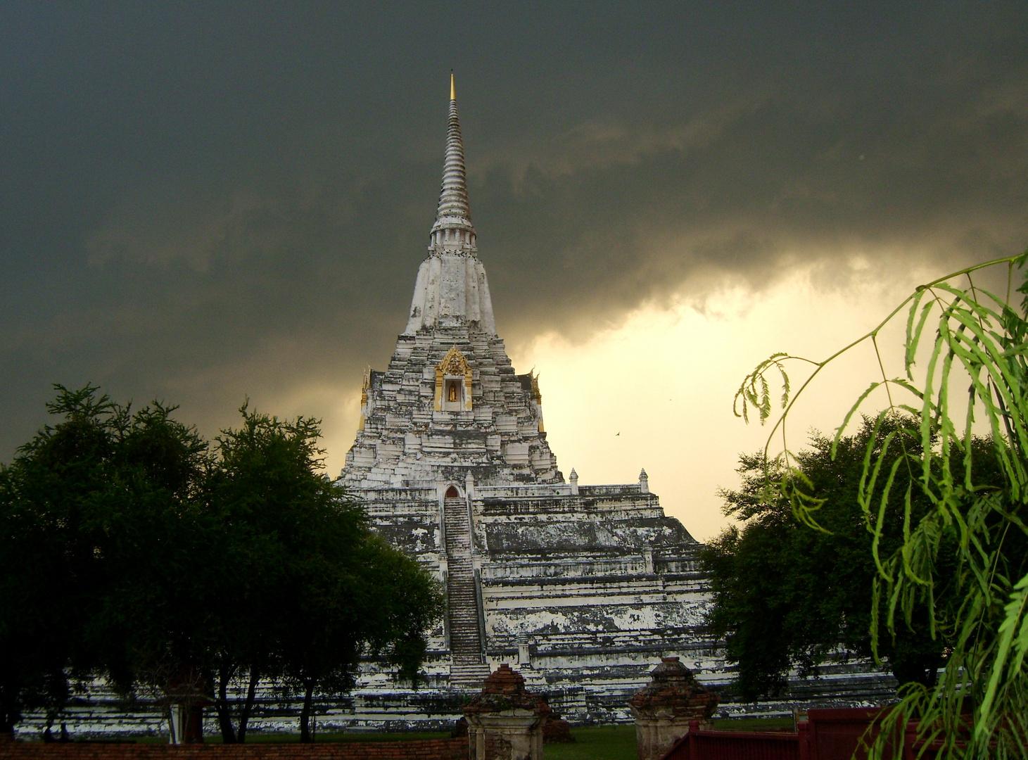 Ayutthaya - vor dem Regen