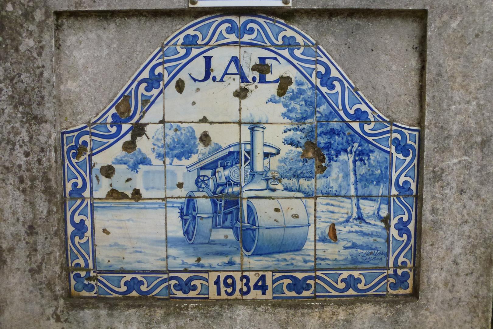 Azulejo auf dem Rastplatz 1934