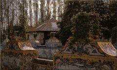Azulejos in garden