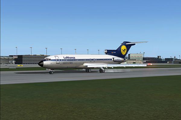 B 727-30 'D-ABIB', Happy Landing  in Frankfurt/Main