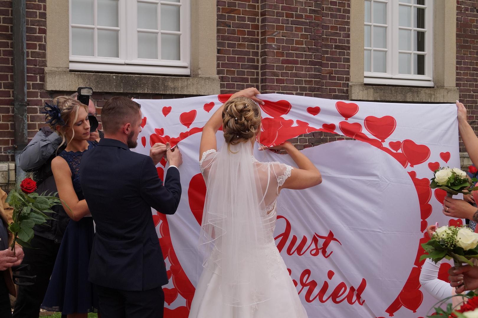 B & A Hochzeit Just Married