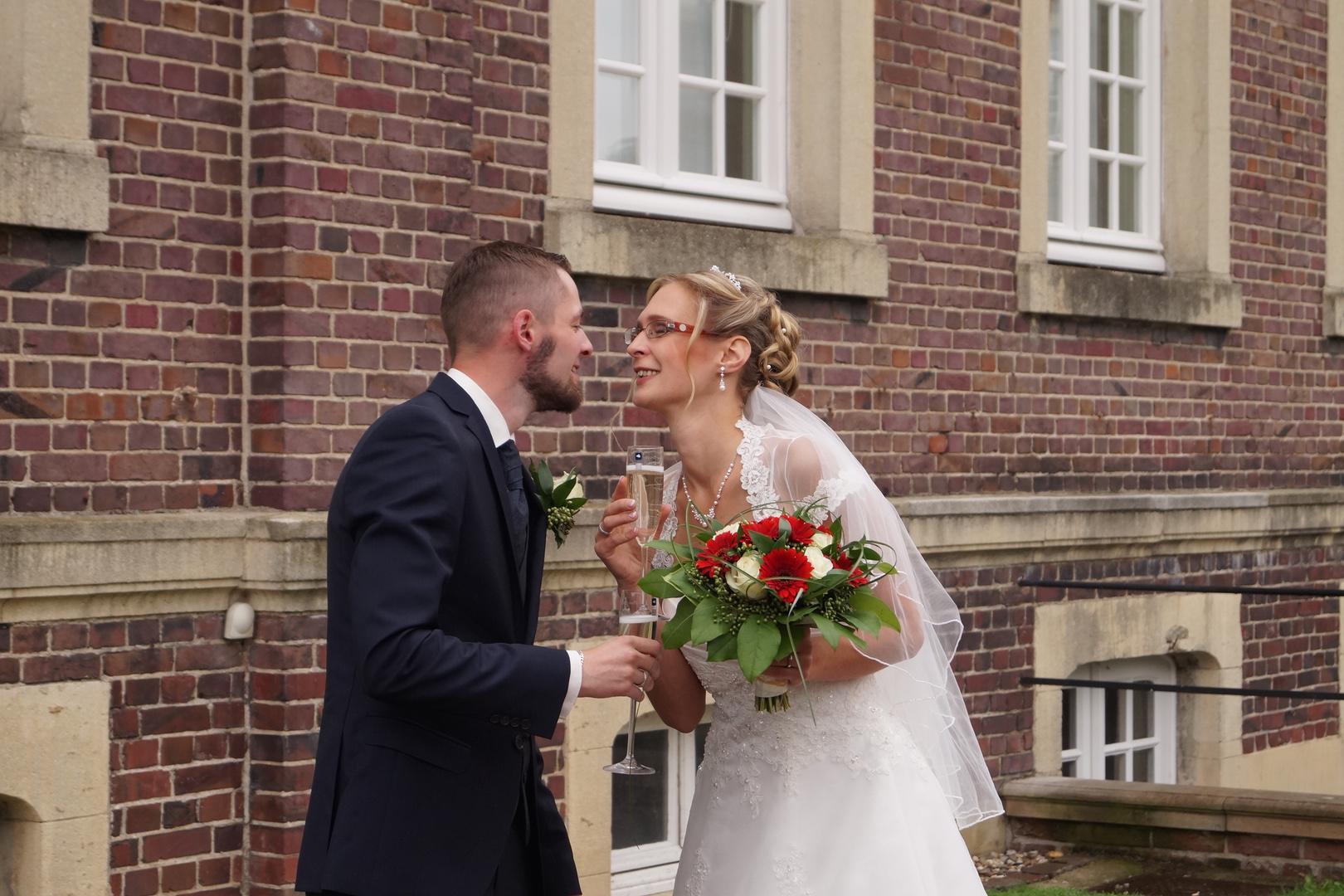 B & A Hochzeit Sektempfang
