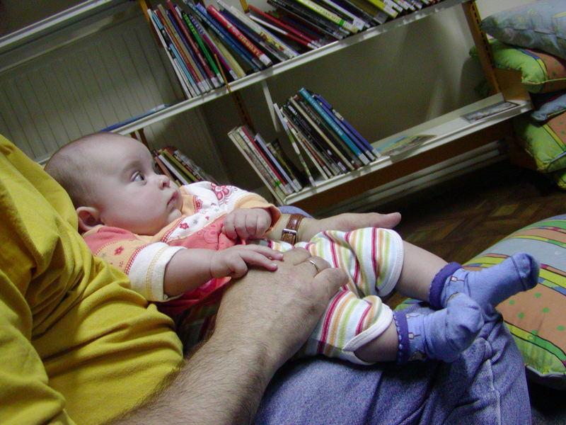 Babylesestunde in der Bibliothek