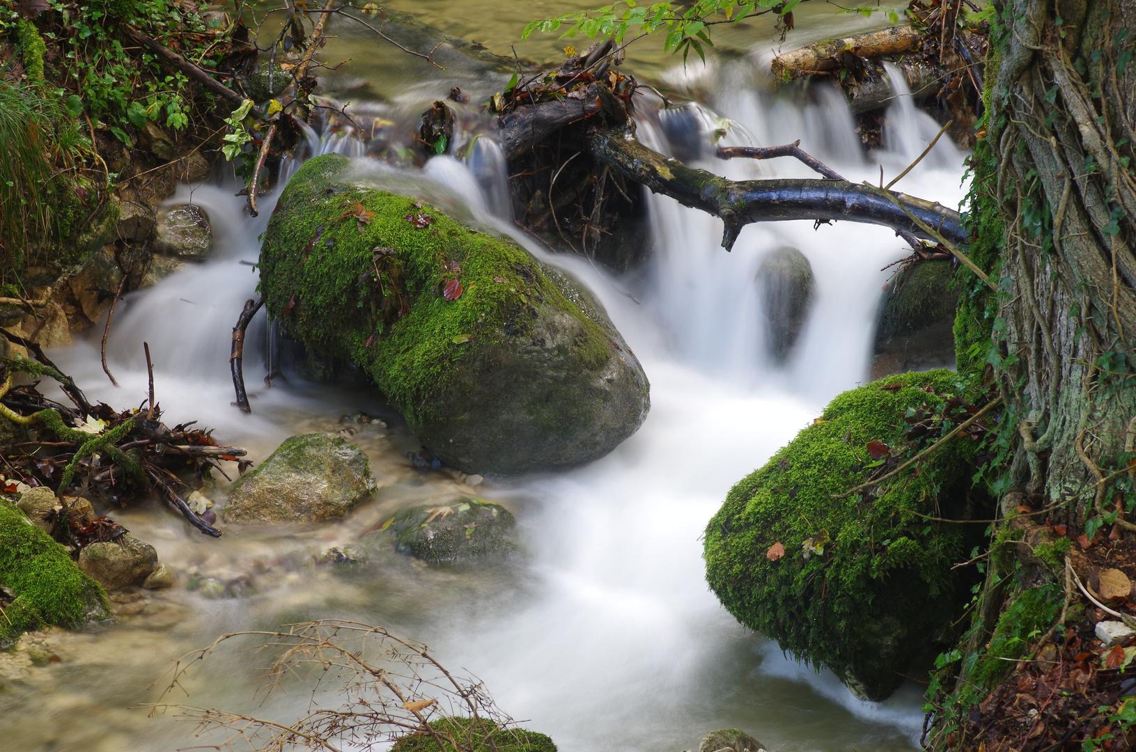 Bachlauf im Wasserfallengebiet