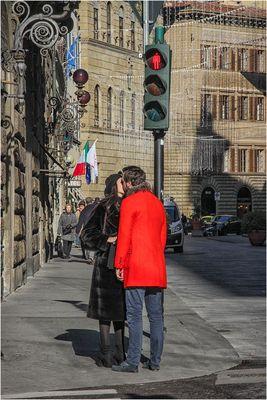 "Bacio col ""rosso"""