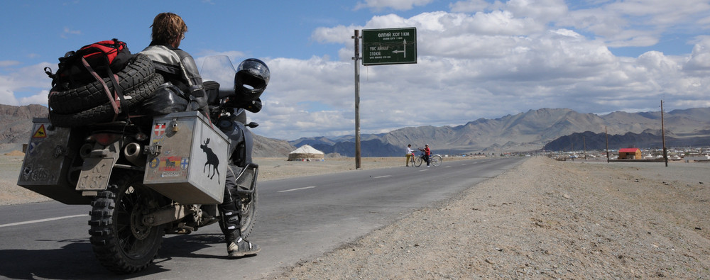 """Back in civilization"" - Ulgii City - Mongolia"