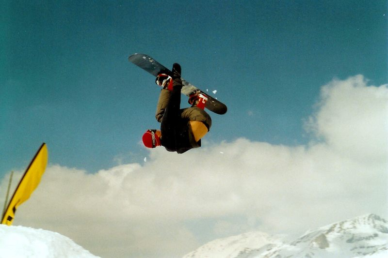 Backflip in Val d'Isere - Espace Killy - Frankreich