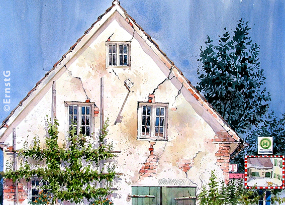 Backhaus (Aquarell - OD)