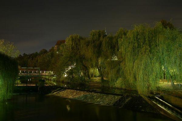Backnang an der Murr bei Nacht