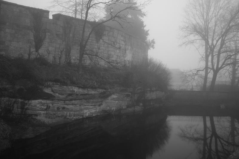 Bad Bentheimer Burg im Nebel(Pferdetränke)