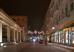Bad Ems bei Nacht - Römerstrasse