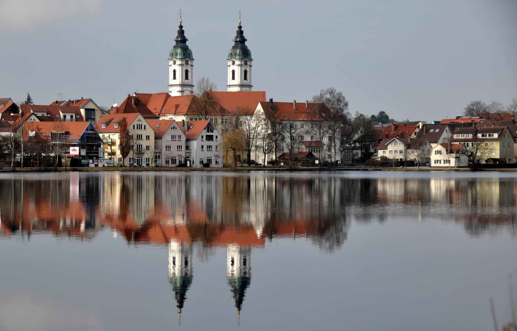 Bad Waldsee Stadt mit St. Peter / kath. Kirche