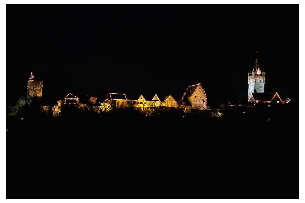 Bad Wimpfener Weihnachtsmarkt bei Nacht