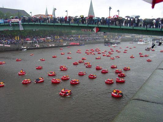 Badeinselregatta - Bremen, heute