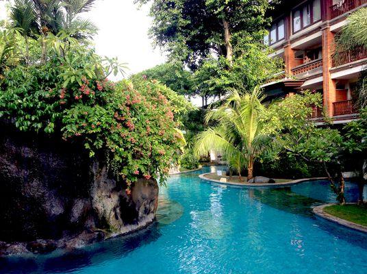 Badelandschaften vom Hotel Bali Padma, Legian
