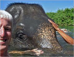 Baden mit Elefanten/ Ko Chang Thailand
