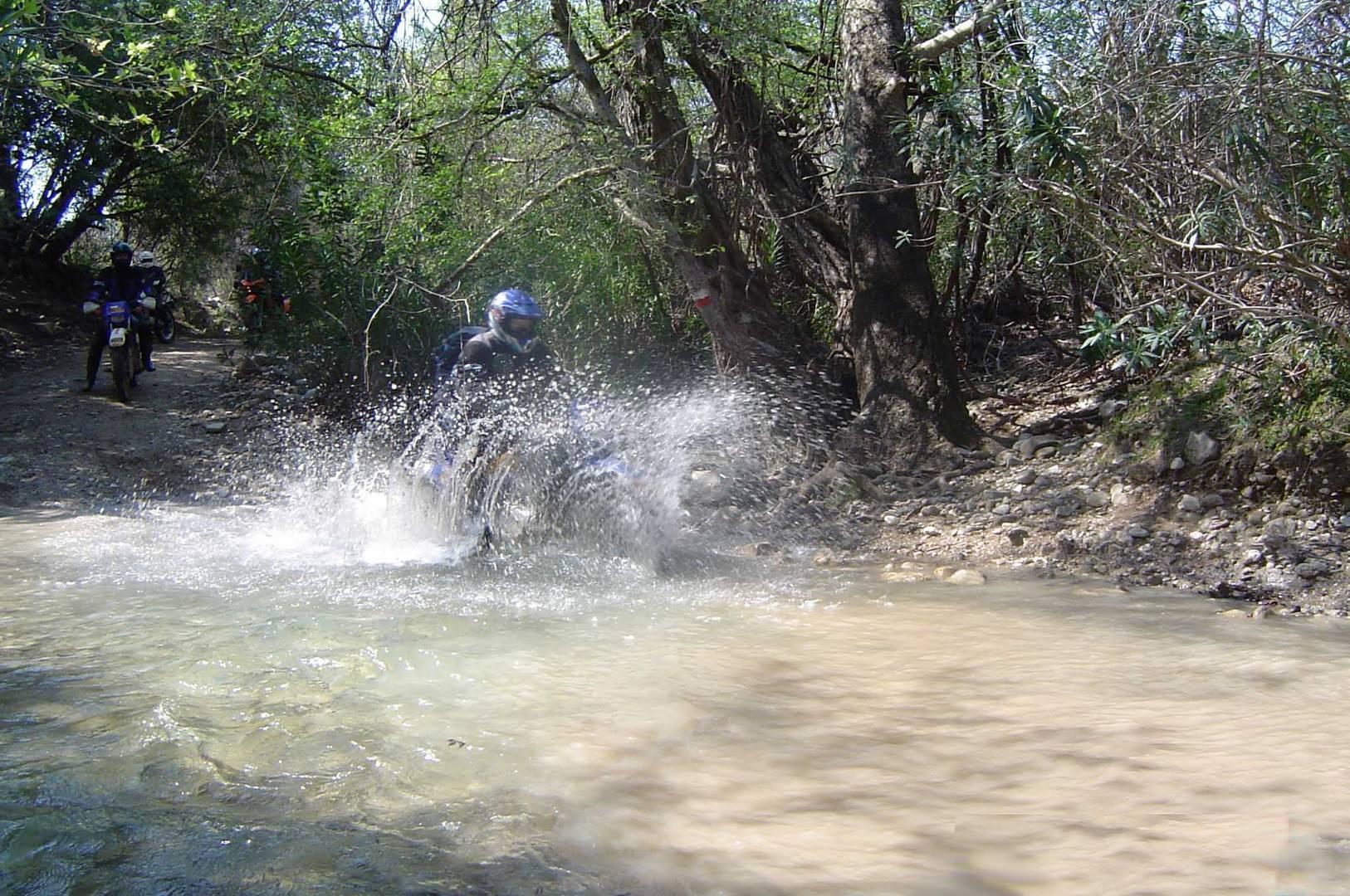 Baden nach Motorradfahrer Art