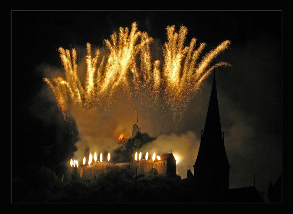 Badenfahrt 07.... das goldene Feuerwerk auf der Ruine Stein