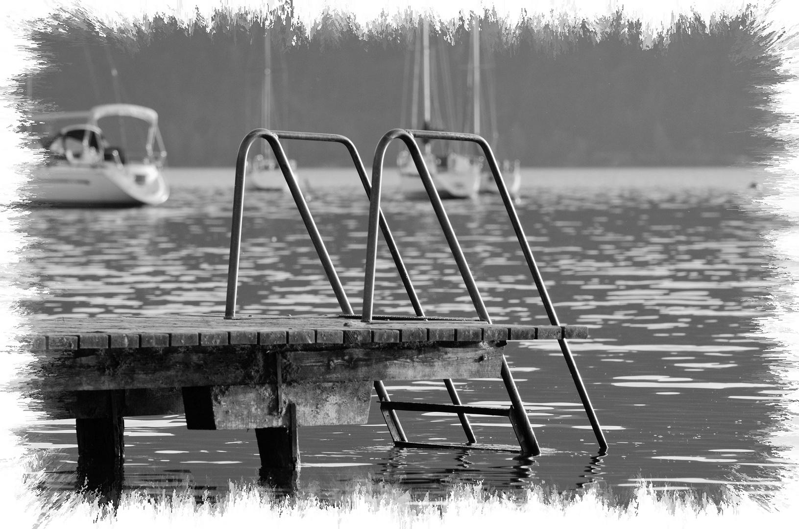 Badesteg Loibichl am Mondsee , 25.09.2013
